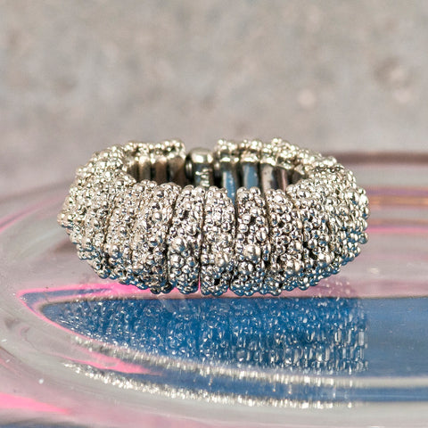 CAVIAR SILVER FLEXI RING
