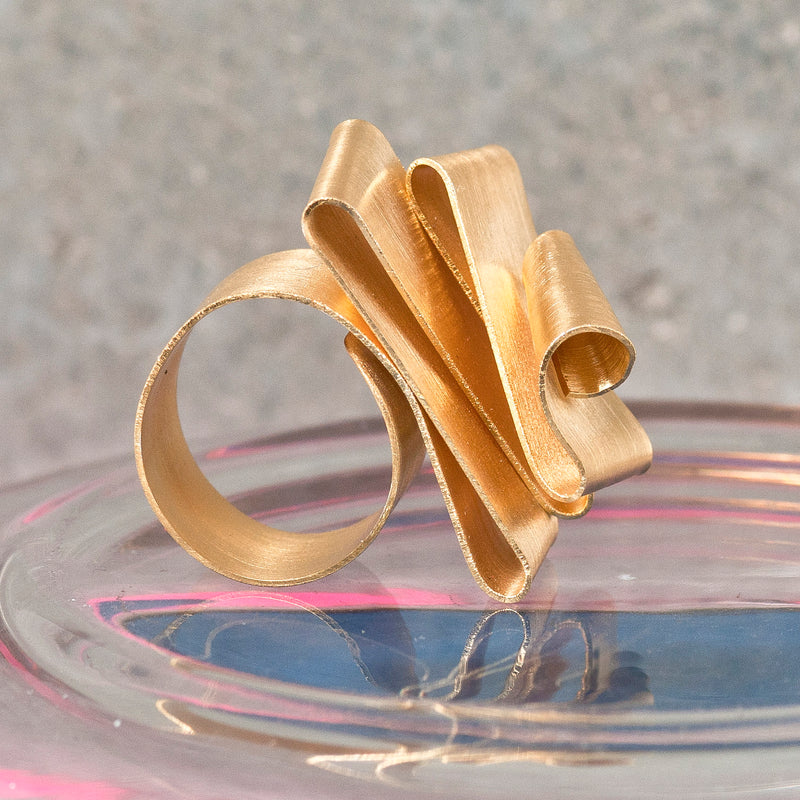 FOLDED GOLD RING