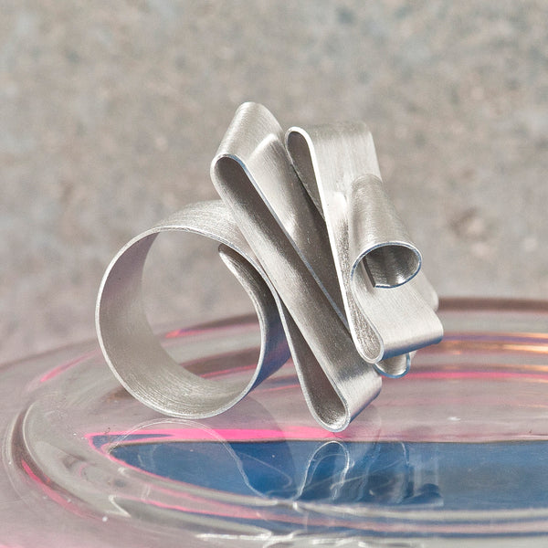FOLDED SILVER RING