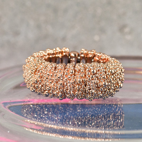 CAVIAR ROSE GOLD FLEXI RING
