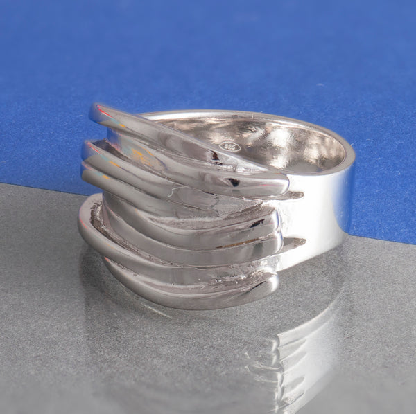 SILVER RIBBON RING