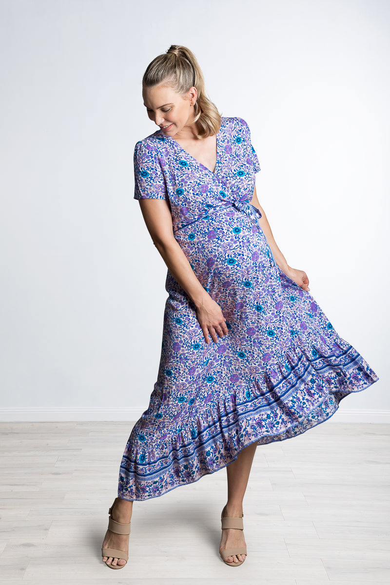 Harlow Maternity & Nursing Dress in New Moon