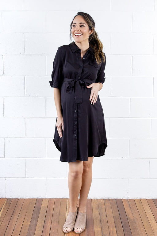 Kara Maternity & Nursing Shirt Dress