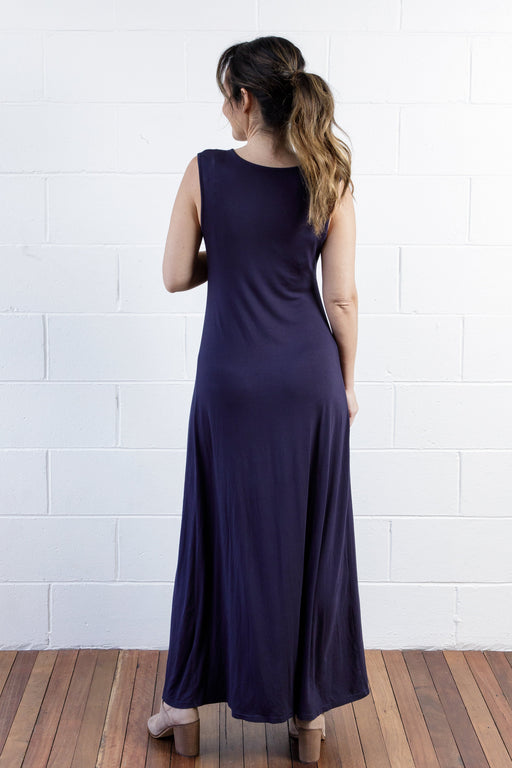 Jessa Knot Dress in French Navy