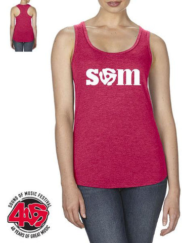SOM - Ladies Racerback Tank Top, Red