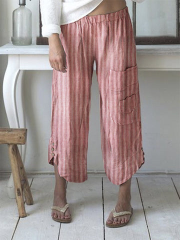 Summer Stripes Boho Pants