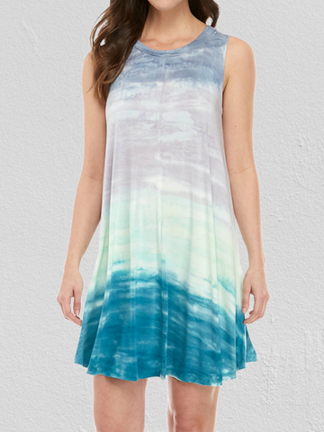 Daytime Tie-Dye Sleeveless Mini Dress