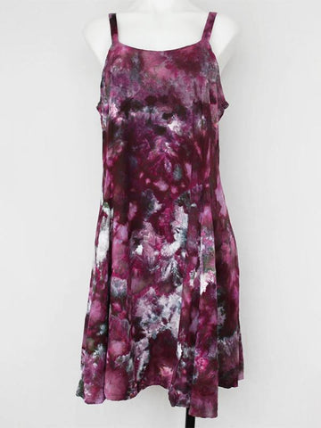 Summer Round Collar Tie Dye Print Classic Dress