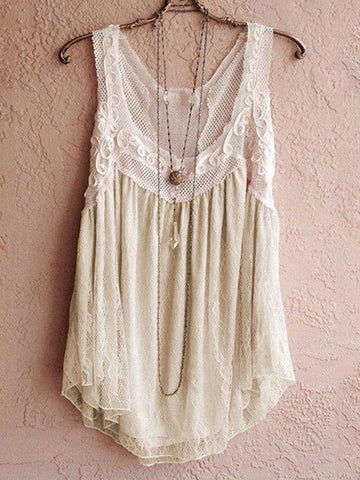 Summer Sleeveless Casual Loose Solid Vest