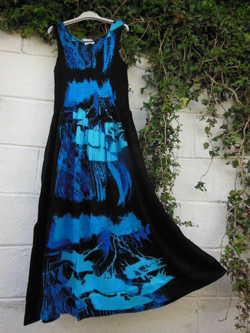 Tie Dye Abstract Sleeveless Shift Summer Dress