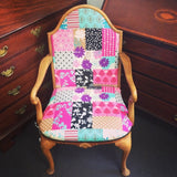 Echino reupholstered vintage chair