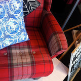 Smoking Hot Red Tartan Wingback Chair - Classic Style