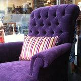 Purple-licious Deep Buttoned Rolled Armchair