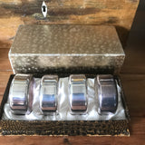 Silver Napkin Rings: Boxed
