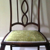 Green Velvet Edwardian Chair