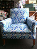 Claridge 'Blue Azul' Vintage Chair