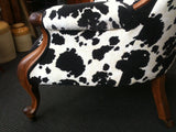 Statement piece Grandpa chair in COWHIDE fabric