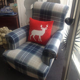 Tartan Wool Club Chair