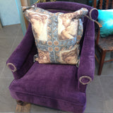 Antique Velvet Purple Tub Chair