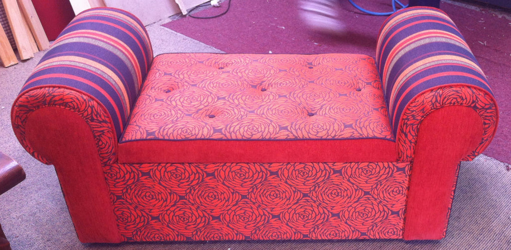Rolled Arm Ottoman: Client Work