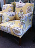 Vintage Rolled Arm Chairs - Beautifully Reupholstered