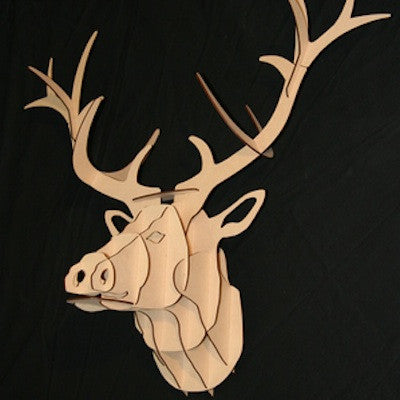 MDF Wood Trophy: Large Stag