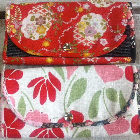 Beautifully Detailed Handmade Fabric Wallet - Floral