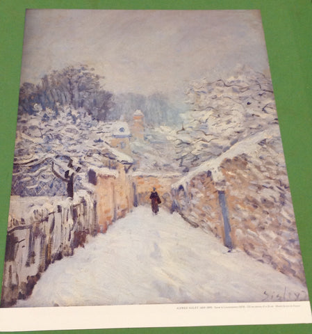 Sisley: Snow in Louveciennes