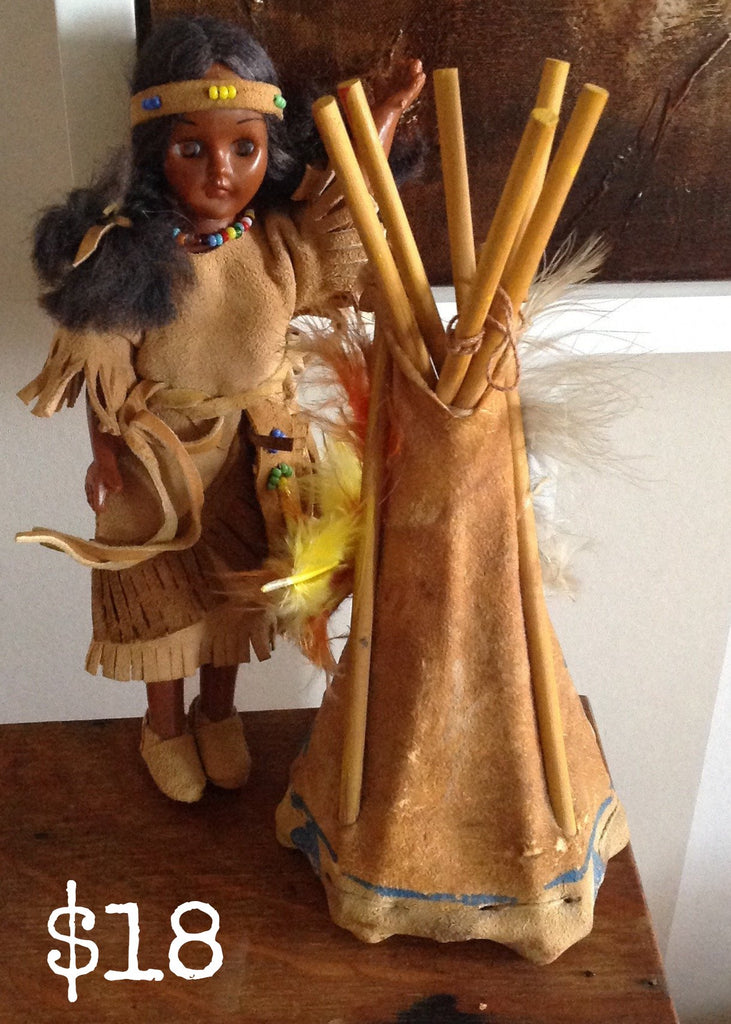 American Indian Blinky Doll