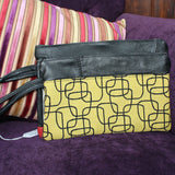 Veronica Anderson Leather & Fabric Clutch