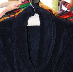 100% Cotton Robe: Navy size 8-10