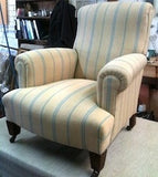 Vintage French Feedsack Fabric Chair