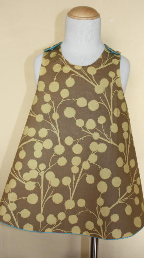 MoonUnit Floral Spray Apron Dress:  size 1 -2 years
