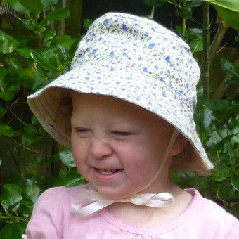 Cotton Bucket Hat: Vintage Floral: Size 1-2 yrs