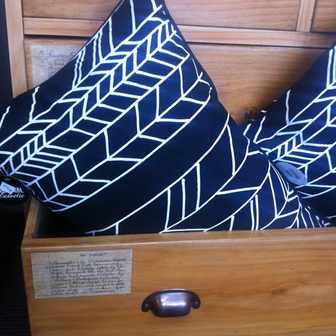 Geometric Design Black & White Cushion