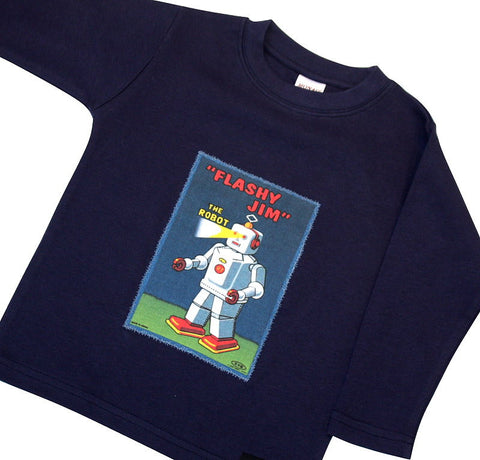 Robot Long Sleeved T: mixed sizes, long/short sleeve