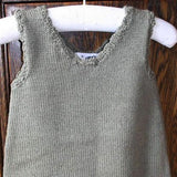 100 % NZ Wool Knit Dress: Khaki 6mth