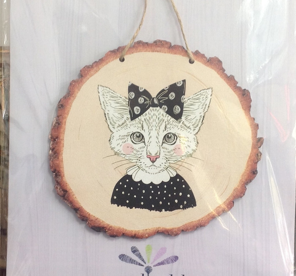 Kitty Cat: Tree Slice Wall Art