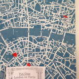 Felt Noticeboard 'Pin City': London or Paris
