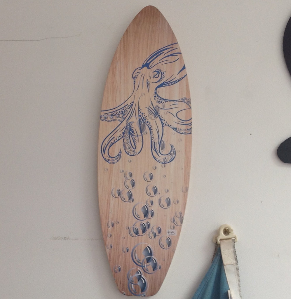 Octopus & Bubbles : Plywood Wall Art