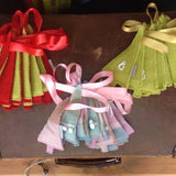 Wool Christmas Tree Bunting: pink pom pom