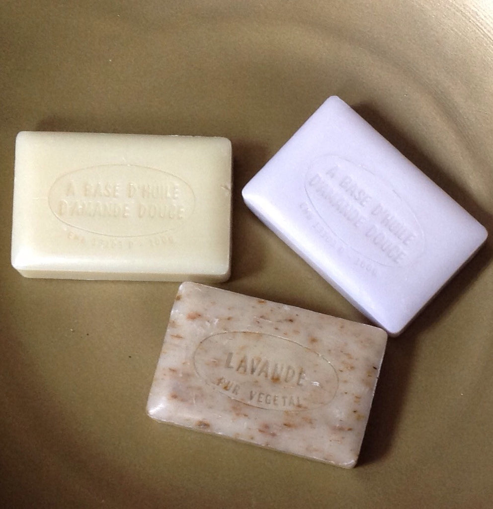 Unwrapped Scented French Soap: almond oil base