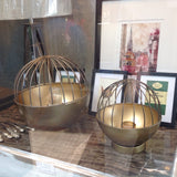 'Sputnik' Candle Holder / lantern : brass tones