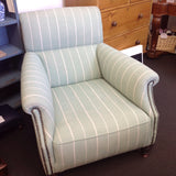 Antique Armchair Restored with Linen Fabric