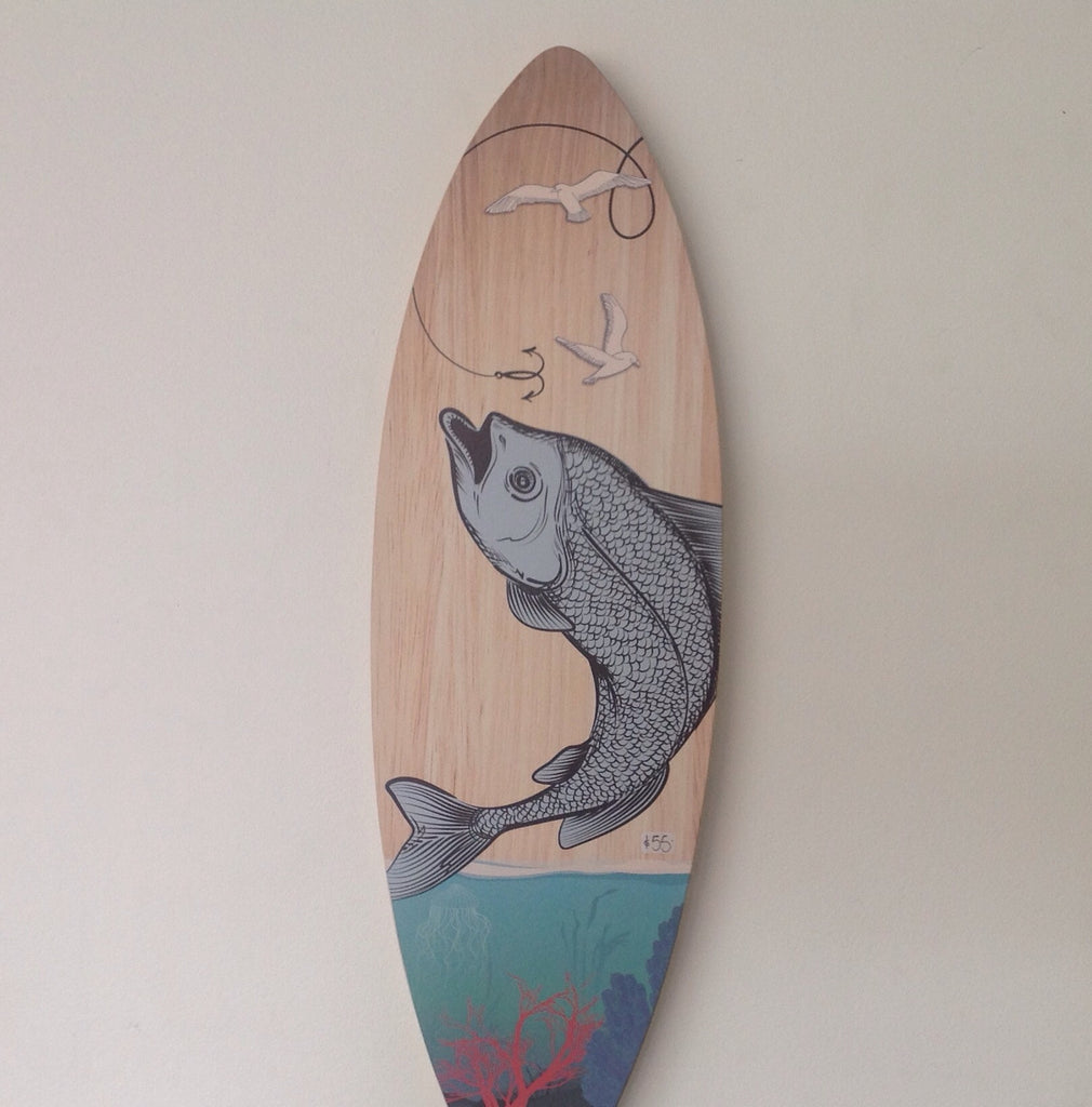 Fishing & Underwater: Plywood Wall Art