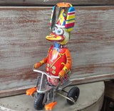 Retro Style Wind Up Duck on a Tricycle