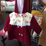 Handmade Quilted Jacket: corduroy & floral sz 4