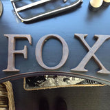 Iron Letters: rustic finish