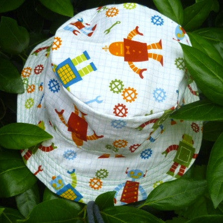 Bucket Hat: Robot: Size 1-5 yrs