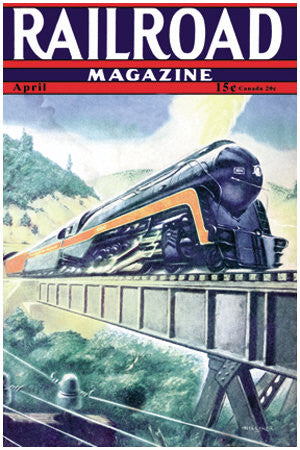 Vintage Art Print -Railroad Magazine